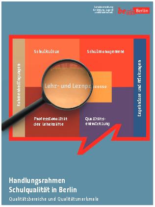 Umschlagseite des Handlungsrahmens Schulqualität Berlin