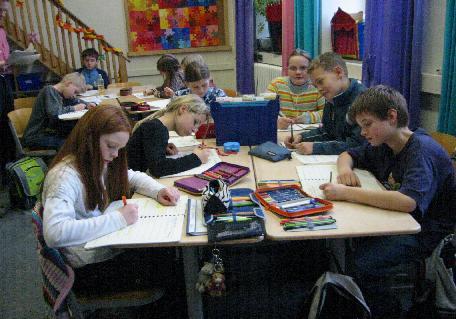 Bild mit Schülern