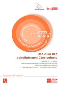 Cover der Broschüre Das ABC des schulinternen Curriculums