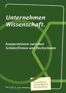 Cover Broschüre Unternehmen Wissenschaft
