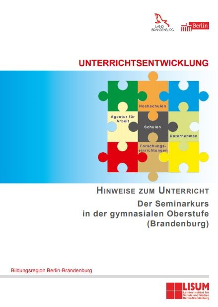Cover Handreichung Der Seminarkurs in der reformierten gymnasialen Oberstufe (BB)