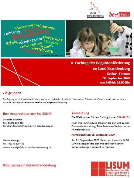 4. Fachtagung der Begabtenförderung im Land Brandenburg