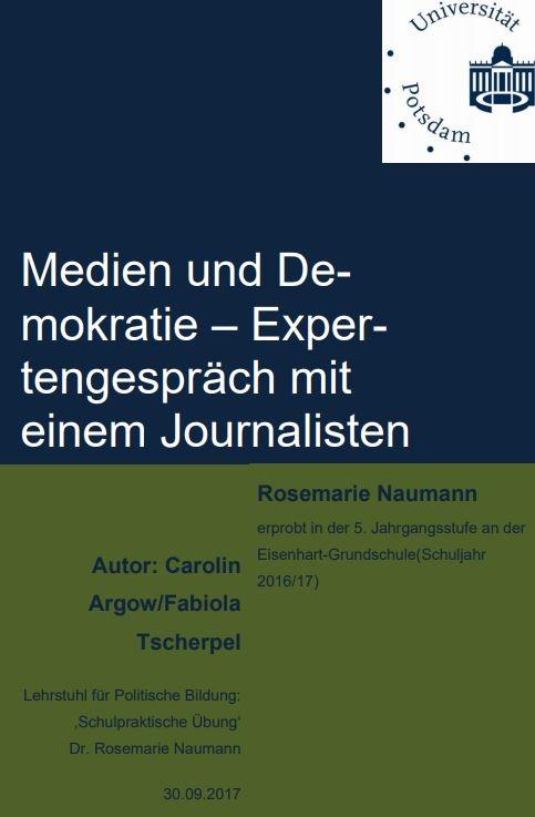 Cover Expertengespräch mit einem Journalisten