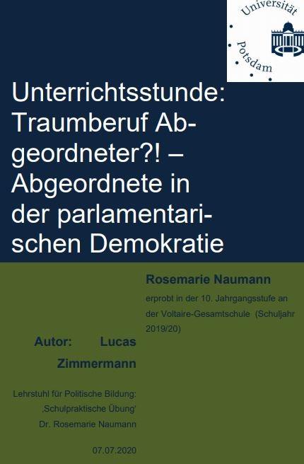 Cover Traumberuf Abgeordneter